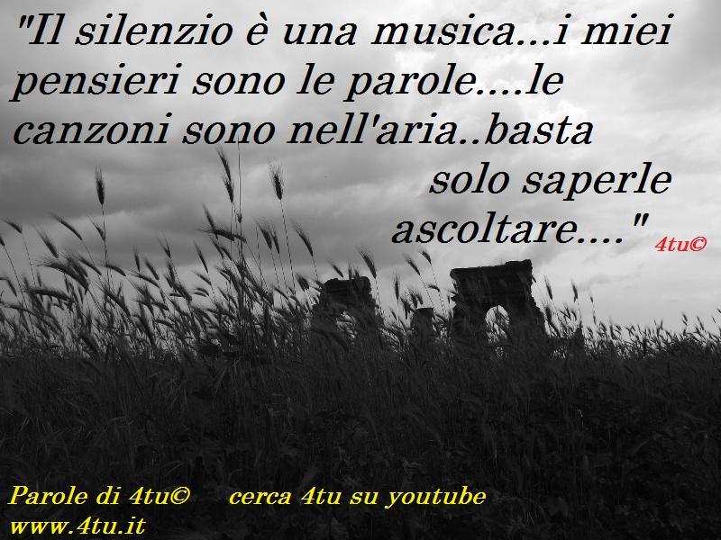 Molto Il silenzio è una musica…i miei pensieri sono le parole….le  CS04