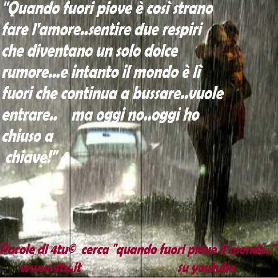 """Preferenza frasi e canzoni sulla pioggia – """"quando fuori piove è così strano  DU66"""