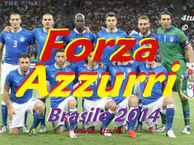 Forza italia, forza azzurri mondiali di calcio brasile 2014 https://www.youtube.com/watch?v=m_deoERlxt4