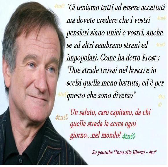 Rip Robin Williams 21 Luglio 1951 11 Agosto 2014 Frase Attimo