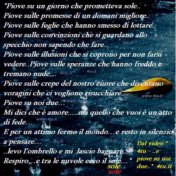 """Top canzoni d'amore italiane 2015 2016 – """"E piove su noi due"""" – video  GU41"""
