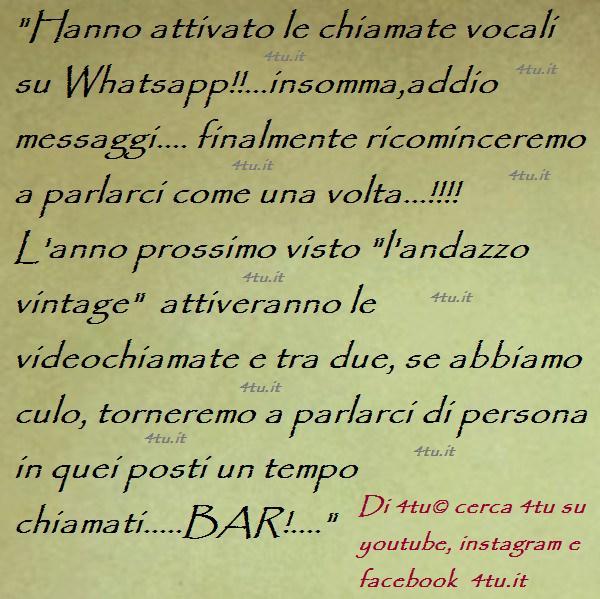Jubeldotkcom Chiamate Vocali Whatsapp Attivazione Frasi